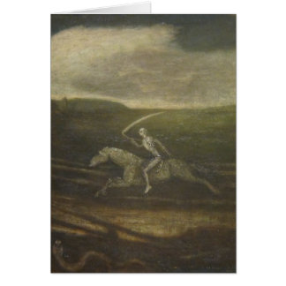 The Race Track Or Death On A Pale Horse Greeting Card