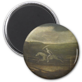 The Race Track Or Death On A Pale Horse 2 Inch Round Magnet