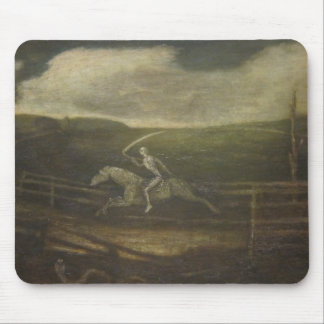 The Race Track Or Death On A Pale Horse Mouse Pad