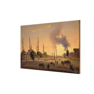 The Racecourse at Constantinople (oil on canvas) Canvas Print