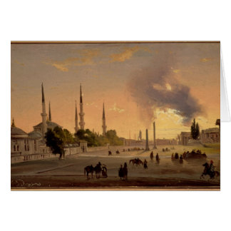 The Racecourse at Constantinople (oil on canvas) Cards