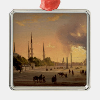 The Racecourse at Constantinople (oil on canvas) Christmas Tree Ornaments