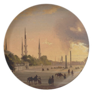 The Racecourse at Constantinople (oil on canvas) Plate