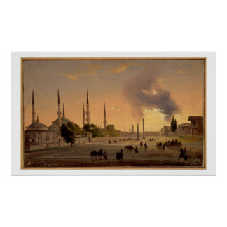 The Racecourse at Constantinople (oil on canvas) Poster