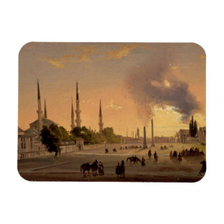 The Racecourse at Constantinople (oil on canvas) Rectangle Magnets