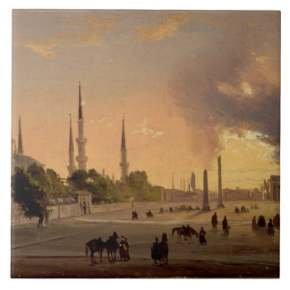 The Racecourse at Constantinople (oil on canvas) Ceramic Tile