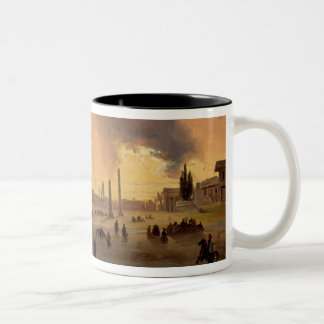 The Racecourse at Constantinople (oil on canvas) Two-Tone Coffee Mug