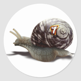 The Racer - Lucky Number Seven! Round Sticker