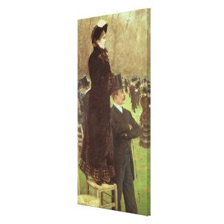 The Races at Auteuil, Paris (oil on canvas) Stretched Canvas Prints