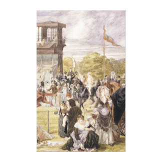 The Races at Longchamp in 1874 Stretched Canvas Prints