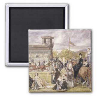 The Races at Longchamp in 1874 Magnet