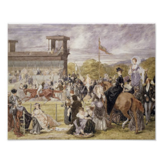 The Races at Longchamp in 1874 Poster