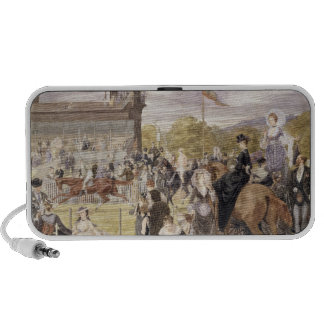 The Races at Longchamp in 1874 Portable Speaker