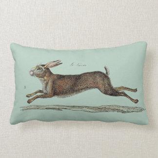 The Racing Hare at Easter Lumbar Pillow