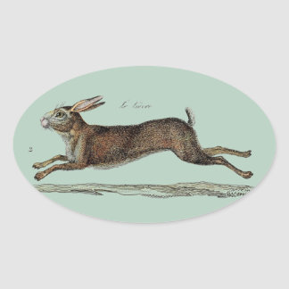 The Racing Hare at Easter Oval Stickers