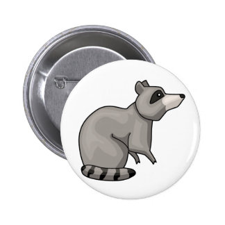 The Racoon Pinback Button