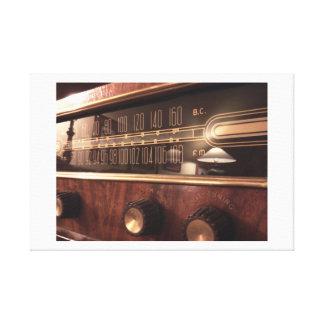 The Radio - A Classic Canvas Print