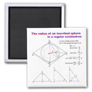 The radius of an inscribed sphere in octahedron magnet
