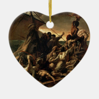 The raft of the jellyfish - Géricault Double-Sided Heart Ceramic Christmas Ornament