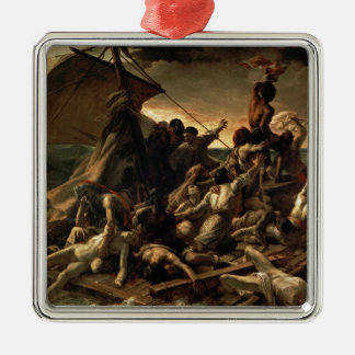 The raft of the jellyfish - Géricault Square Metal Christmas Ornament