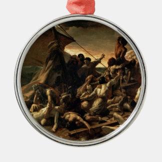The raft of the jellyfish - Géricault Round Metal Christmas Ornament