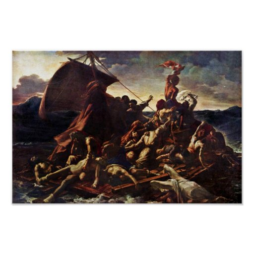 The Raft Of The Medusa, By Géricault Jean Louis Th Poster