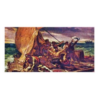 The Raft Of The Medusa (Study) By Géricault Jean L Customized Photo Card