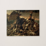 """The Raft of the Medusa - Th&#233;odore G&#233;ricault Jigsaw Puzzle<br><div class=""""desc"""">The Raft of the Medusa (French: Le Radeau de la M&#233;duse) is an oil painting of 1818–1819 by the French Romantic painter and lithographer Th&#233;odore G&#233;ricault (1791–1824). Completed when the artist was 27,  the work has become an icon of French Romanticism.</div>"""