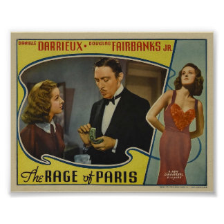 The Rage of Paris Vintage Movie Poster