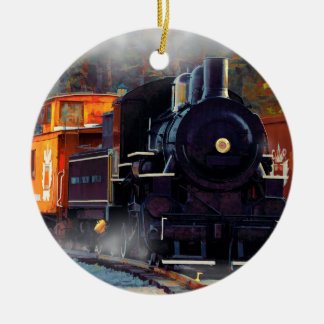 The Rail Yard  -  Steam Train Ceramic Ornament
