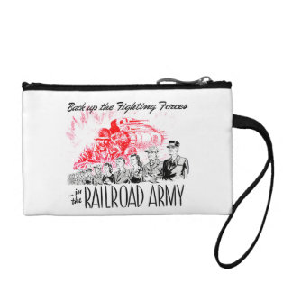 The Railroad Army-Back up the Fighting Forces Change Purse