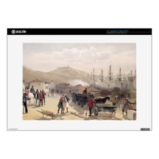 """The Railway at Balaklava, plate from 'The Seat of 15"""" Laptop Skin"""