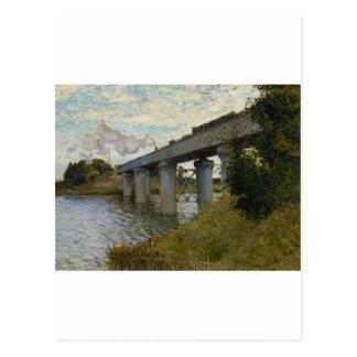 The Railway Bridge at Argenteuil (1874) [2] Postcard