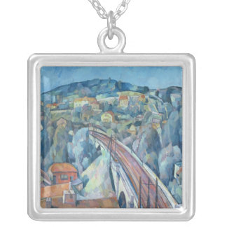 The Railway Bridge at Meulen Silver Plated Necklace