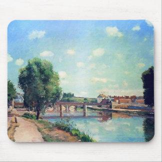 The Railway Bridge, Pontoise by Camille Pissarro Mouse Pad