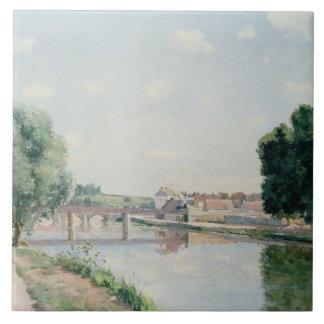 The Railway Bridge, Pontoise Ceramic Tile
