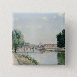 The Railway Bridge, Pontoise Pinback Button