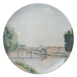 The Railway Bridge, Pontoise Party Plate