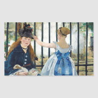 The Railway by Edouard Manet 1873 Rectangular Sticker