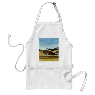 The Railway Cutting By Paul Cézanne (Best Quality) Adult Apron