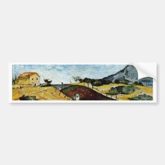The Railway Cutting By Paul Cézanne (Best Quality) Car Bumper Sticker