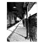 The Railway Station  black and white sketch Post Card