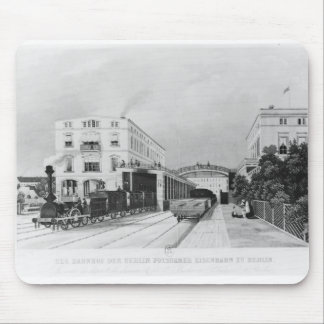 The railway station of the train Berlin-Potsdam Mouse Pad