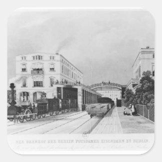 The railway station of the train Berlin-Potsdam Square Sticker
