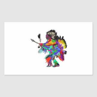 The Rain Dance Rectangular Sticker