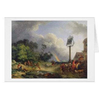 The Rainbow, 1784 (oil on canvas) Card