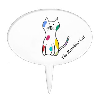The Rainbow Cat Cake Topper