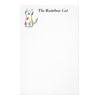 The Rainbow Cat Stationery
