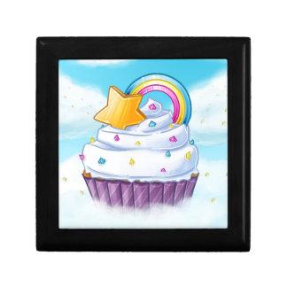 The rainbow cupcake jewelry box