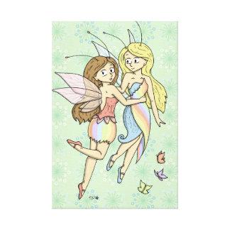 The Rainbow Fairies Canvas Print